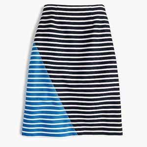Petite Colorblocked Striped Skirt